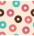 pattern donuts with caramel topping vector image vector image