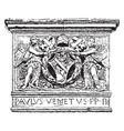 paul ii have a lion and soldures image vintage vector image vector image