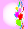 pink party background vector image vector image