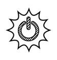 power button design vector image