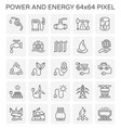 power energy icon vector image