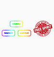 rainbow colored dotted bricks icon and vector image vector image