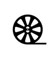reel film icon vector image