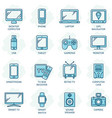 responsive design related color line icons vector image vector image