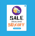 sale special offer 50 off shop now image vector image