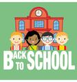 school and children vector image vector image