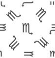 Scorpio pattern vector image vector image