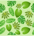 seamless background of summer tropical leaves vector image vector image