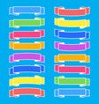 set of colored isolated banner ribbons on a blue vector image vector image