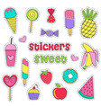 set of isolated sweet stickers vector image