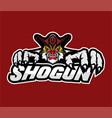 shogun sport mascot logo design image vector image vector image