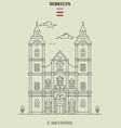 st annes cathedral in debrecen vector image vector image