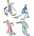 Team Sports Basketball Field hockey Handball and vector image