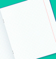 Template notebook for design handmade Mock up vector image