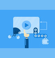 video marketing for making of money from video on vector image
