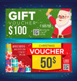 voucher coupon template horizontal leaflet vector image vector image