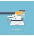 Web design Flat computing vector image