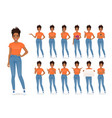 woman in casual style clothes set vector image vector image