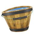 wood bucket with water vector image vector image