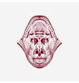 Zentangle stylized monkey head vector image vector image