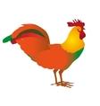 Rooster cock portrait cartoon vector image