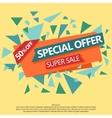 Super Sale special offer paper banner vector image