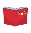 book open symbol cute kawaii cartoon vector image