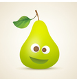 funny smiling pear vector image