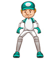 A simple sketch of a cricket player vector image vector image