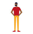 afro american man standing character vector image