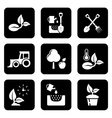 agriculture black icon set vector image vector image