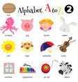 Alphabet A To Z 2 vector image vector image