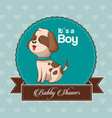 baby shower card invitation its a boy vector image vector image