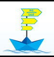 big clearance sale banner design with boat concept vector image vector image