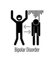bipolar mental disorder icon vector image