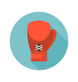 boxing glove icon flat design vector image vector image