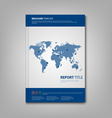 Brochures book or flyer with blue abstract world vector image vector image