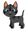 Cartoon gray cat with blue eyes pets vector image