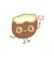 Coconut Girly Cartoon Character vector image vector image