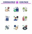covid19-19 protection coronavirus pendamic 9 vector image vector image