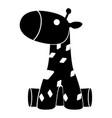 cute stuffed giraffe toy vector image vector image