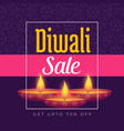 diwali festival offer poster template design with vector image vector image