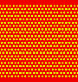 dotted pop-art polka dot background yellow red vector image