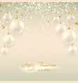 Elegant Christmas banner with glass balls vector image vector image