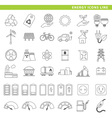 energy icons line vector image vector image