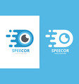 fast eye logo combination speed optic vector image