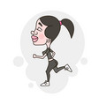 fitness running girl vector image vector image