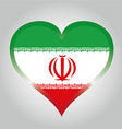 flag from iran with its respective colors vector image
