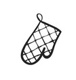 hand drawn icon of potholder vector image vector image