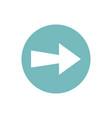 icon arrow in color circle vector image vector image